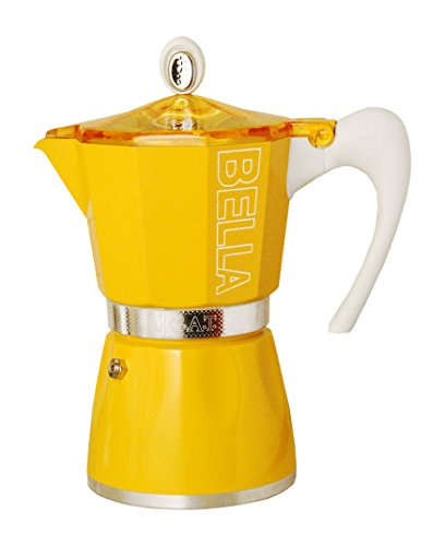 European Gift & Houseware 10-5809 9 Cup Bella Stove-Top Espresso Makers, Sunset Yellow