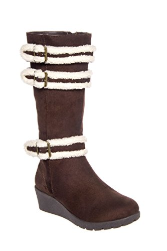 Girl's Dolly Buckle Wedge Mid Calf Boot
