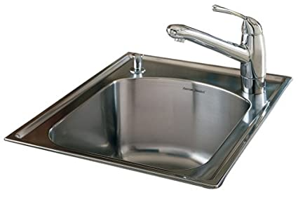 American Standard 7507.103.075 Culinaire 18-Inch self-rimming Island Sink, Stainless Steel