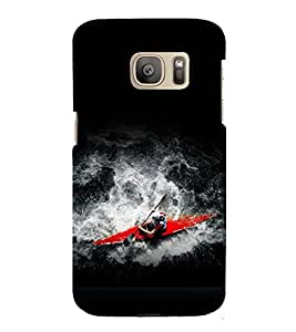 printtech Water Boating Sport Back Case Cover for Samsung Galaxy S7 edge / Samsung Galaxy S7 edge Duos with dual-SIM card slots