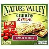 Nature Valley Crunchy & More Granola Bars Oats & Berries 10 X 21G