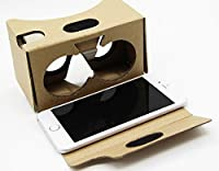 "Google Cardboard, FANNEGO 3D VR Headset Virtual Reality Glasses with Sucktion Cups, Head Strap, Nose Pad, and Forehead Pad for IOS/Android And All Any Other Smart Phone Within 5.5"" (yellow) from FANNEGO"