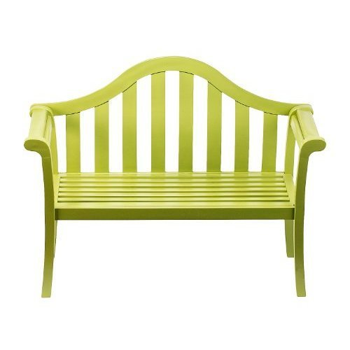 Sweet Pea Green Camelback Garden Bench