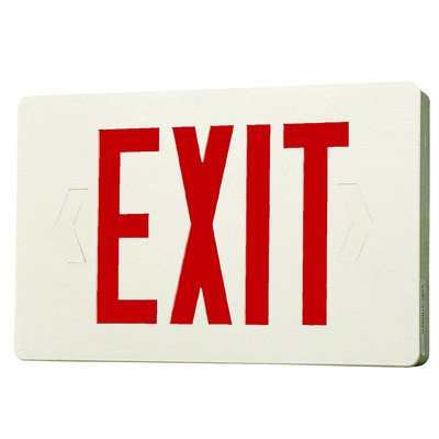 Royal Pacific RXL7RW Two Circuit Exit Sign, White with Red Letters