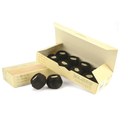 DMC 116 5-310 Pearl Cotton Thread Balls, Black, Size 5