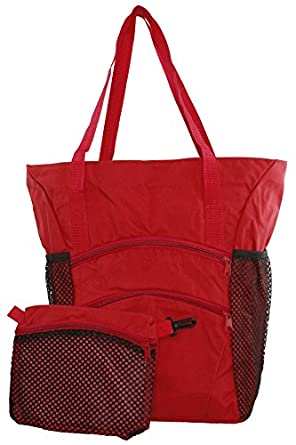 Carry All Zipper Tote, Red