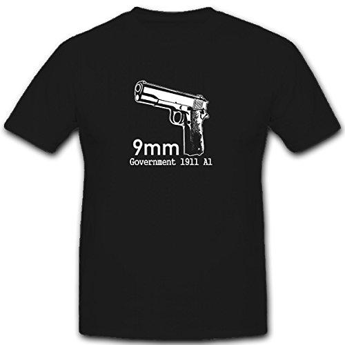 9 mm government 1911 A1 pistola combat pistola - T-Shirt #5373 nero X-Large