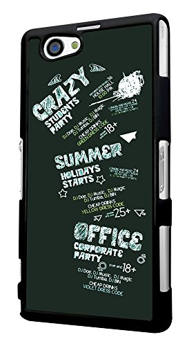 472 - Crazy Student Party Summer holiday Design für Alle Sony Xperia Z / Sony Xperia Z1 / Sony Xperia Z2 / Sony Xperia Z3 / Sony Xperia Z4 / Sony Xperia Z1 Compact / Sony Xperia Z2 Compact / Sony Xperia Z3 Compact / Sony Xperia Z4 Compact / Sony Xperia M2 / Sony Xperia M4 Fashion Trend Hülle Schutzhülle Case Cover Metall und Kunststoff - Bitte wählen Sie Ihr Telefonmodell und Farbe aus der Dropbox