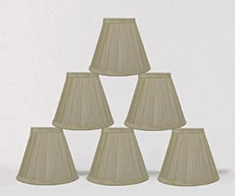 Urbanest 1100890c Set of 6 Cream Side Pleat Chandelier Lamp Shades, 6-inch, Clip On - - Amazon.com