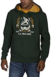 US POLO ASSOCIATION Men's Polyester Sweater (USSS0204_Green_Large)