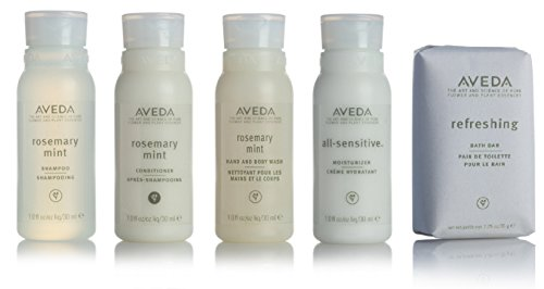 Aveda Travel Set- 2 Shampoo 2 Conditioner 2 Lotion 2 Hand & Body Wash & 2 Soap (Aveda Rosemary Mint Bath Bar compare prices)