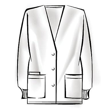 Cherokee Workwear Cardigan-Style Warm-Up Scrub Jacket (Ceil, S)