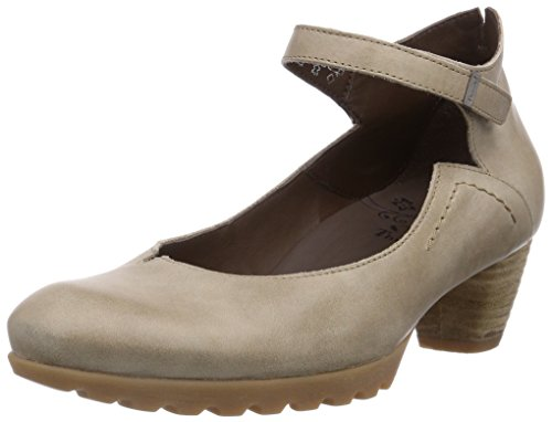 Think NOLA, Damen Plateau Pumps, Beige (KORK 24), 42.5 EU