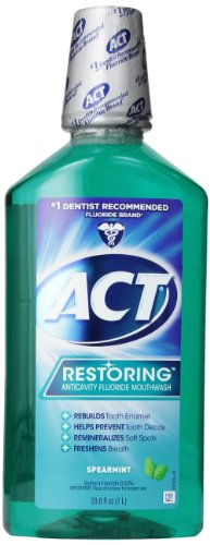 ACT Restoring Anti Cavity Fluoride Mouthwash Spearmint