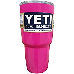 YETI Coolers Rambler Tumbler, Stainless Steel, 30oz, One Size (Pink)