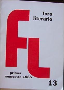 Foro Literario: revista de literatura y lenguaje (VIII:13 primer