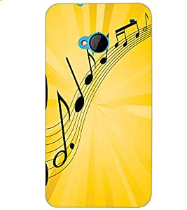 HTC ONE M7 MUSIC Back Cover by PRINTSWAG