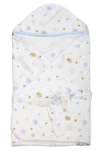 Dele Super Soft Bamboo Fiber Gauze The Summer Of Newborn Baby Blanket Receiving Blanket (Blue) front-701765