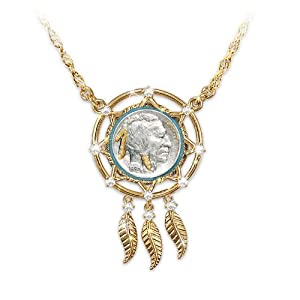 noble spirit buffalo nickel dreamcatcher necklace by the