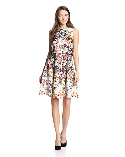 Gabby Skye Women's Floral 2-Piece Pop-Over Dress