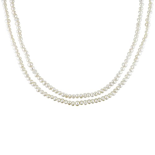 4-7mm Cultured Freshwater White Flat Potato Pearl Necklace, 50