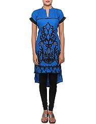 Kalki Fashion Blue Linin Kurti Featuring In Thread Work Only On Kalki Size- Large