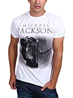 Amplified Camiseta Manga Corta Vintage-Michael Jackson (Blanco)
