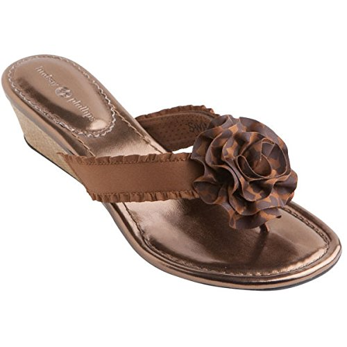 Lindsay Phillips Switchflops Switch Flops Missy Wedge Bronze (Size 8) front-1013253