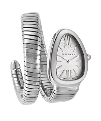 Bvlgari Serpenti Ladies Silver Face Watch SP35C6SS.1T