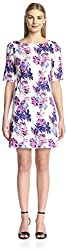 Vertigo Women's Printed Back Zip Dress, Violet, S