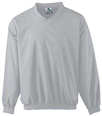 Augusta Drop Ship Micro Poly Windshirt/Lined - Silver Grey 3415 XL