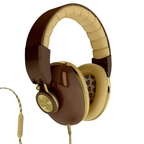 Jlab Bombora Over The Ear Headphones With Universal Mic - Deville Brown / Gold