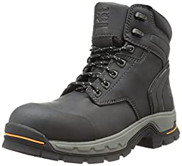 Timberland PRO Men\'s 6 Inch Stockdale Grip Max Alloy Toe Work and Hunt Boot, Black Microfiber, 11 M US
