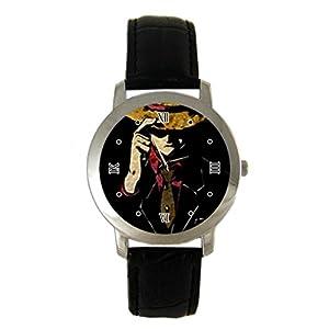 Cool Luffy One Piece Anime Custom leather Band Fashion Adult Wrist Watch - Holiday tone