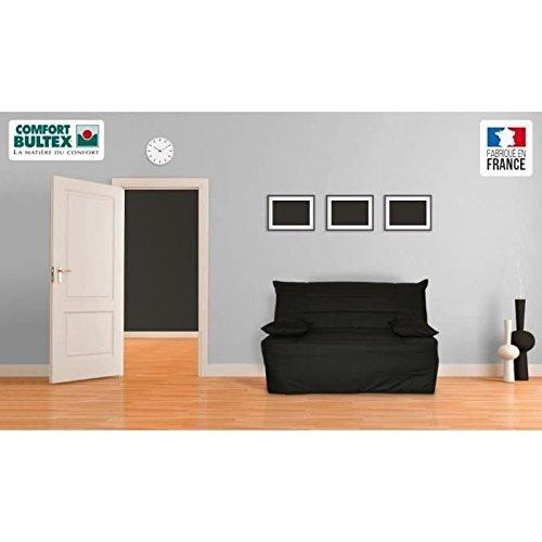 TIX-Banqueta BZ Convertible cama colchón Bultex 2plazas negro