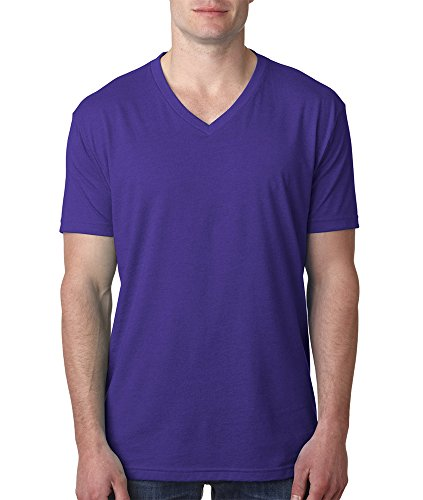 Next Level Mens Cvc V-Neck Tee 6240-Purple Rush-X-Large
