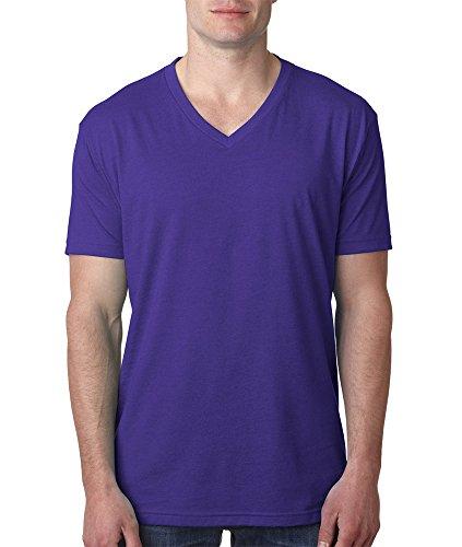Next Level Mens Cvc V-Neck Tee 6240-Purple Rush-X-Large front-570975