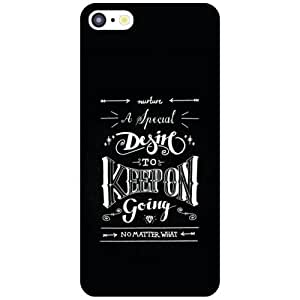 Apple iPhone 5C Back Cover - Keep Moving Designer Cases