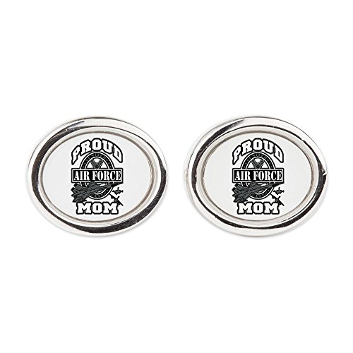 Cufflinks (Oval) Proud Air Force Mom Jets