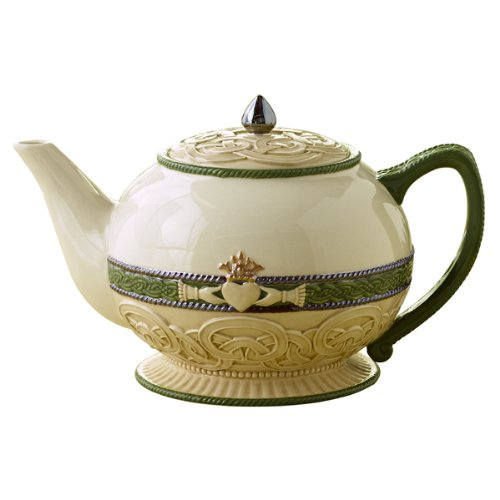 Grasslands Road Celebrating Heritage Celtic Knot and Claddagh Symbol Teapot 58 ounce