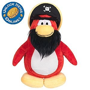Buy Low Price Jakks Pacific Disney Club Penguin Series 3 Rockhopper Plush Figure – Comes with Coin to Unlock Items Online (B002RHAD6U)