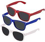 Nerd Sonnenbrille im Wayfarer Stil Retro Vintage Unisex Brille -
