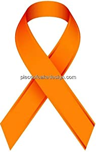 1/4 Sheet ~ Orange MS Ribbon ~ Edible Image Cake/Cupcake Topper!!!