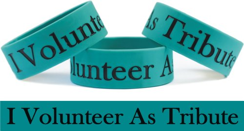 I Volunteer As Tribute Hunger Games Wristband