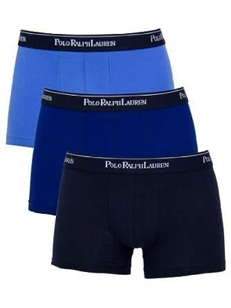 Polo Ralph Lauren - Bleu 3 Pack Trunks - Homme - Taille: Small
