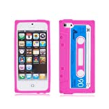 Retro Chic iPhone 5 Cassette Tape Silicone Case in Pink