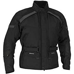 FirstGear Kilimanjaro Men's Textile Street Bike Motorcycle Jacket - Black