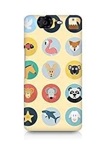 Amez designer printed 3d premium high quality back case cover for Micromax Canvas Knight A350 (Animals Pattern)