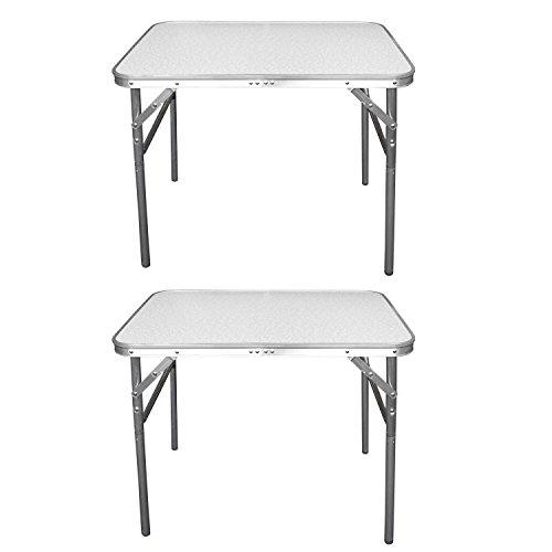 2-Stck-Aluminium-Klapptisch-Campingtisch-75x55cm-Gartentisch-Beistelltisch-Falttisch-Picknicktisch-Alutisch-faltbar-und-hhenverstellbar