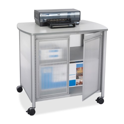 Safco Products Impromptu Deluxe Machine Stand With Doors, Gray, 1859Gr